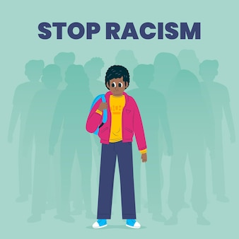 Racism illustration concept