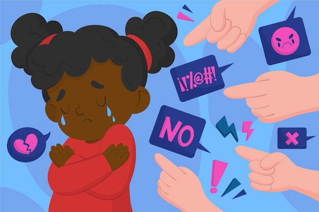 Racism illustration concept