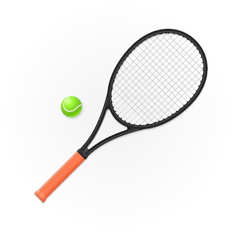 Racket and ball for playing tennis