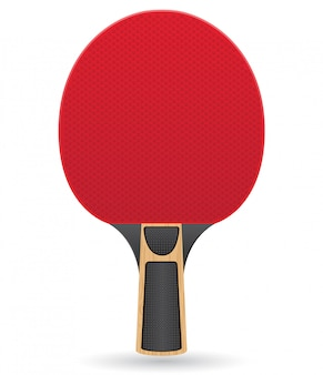 Racket for table tennis ping pong vector illustration
