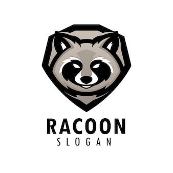 Racoon emblem logo