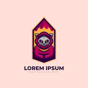 アライグマのロゴデザイン