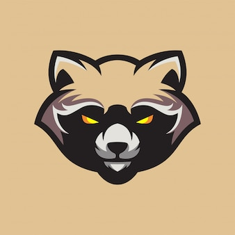 Логотип енота