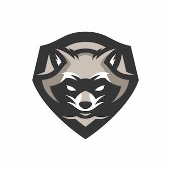 Racoon mascot head sportロゴ