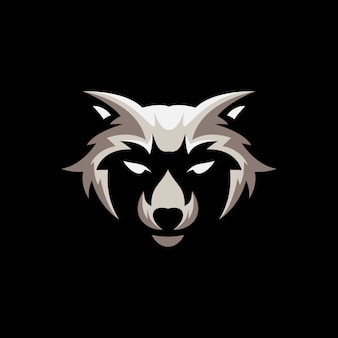 Racoon mascot illustration design