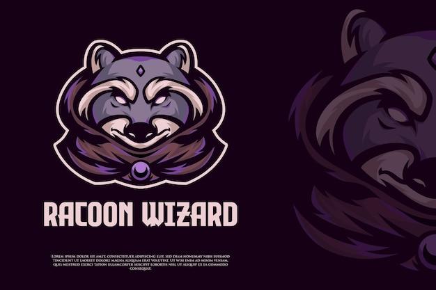 너구리 마법사 e스포츠 로고 디자인