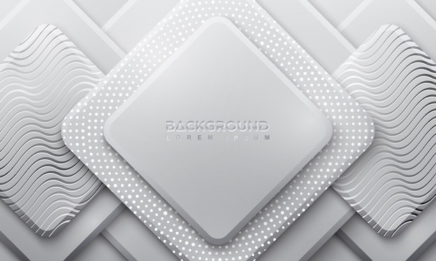 Ractangle gray background with 3d style.
