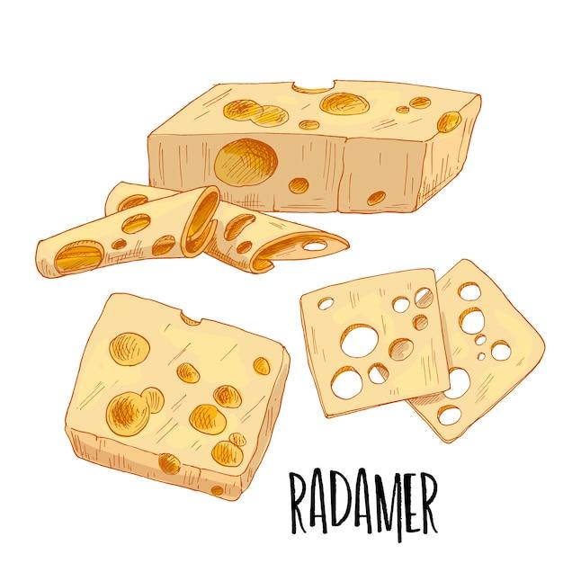 Иллюстрация сыра радамера
