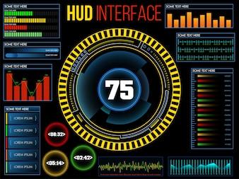 Radar measurement digital speed infographics