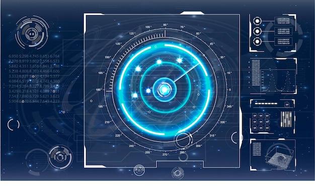 디자인을위한 레이더 화면 그림