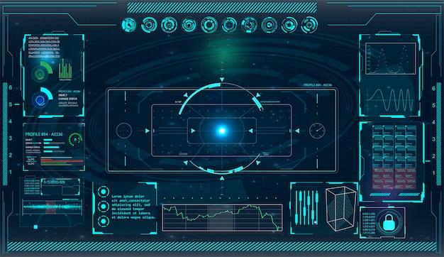 あなたのデザインのレーダー画面のイラスト