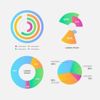 방사형 infographic 컬렉션