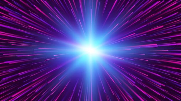 放射状の線。爆発効果。抽象的な星。ベクトルイラスト