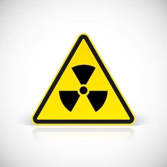 Radiation hazard signs.  symbol in triangular sign