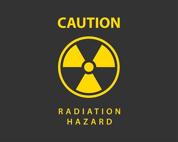 Вектор значок излучения. предупреждающий знак опасности радиоактивный знак.