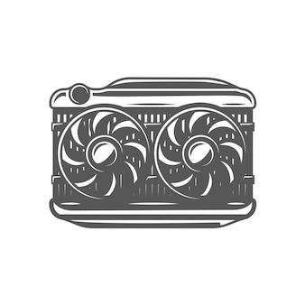 Radiator isolated on white background