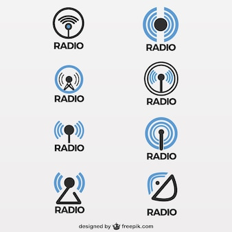 Radio antenna icons