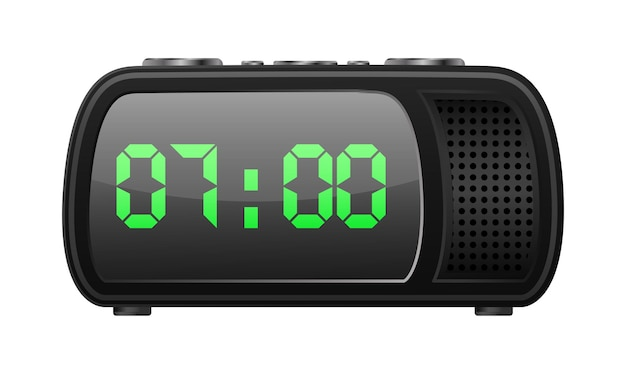 Radio clock retro design icon
