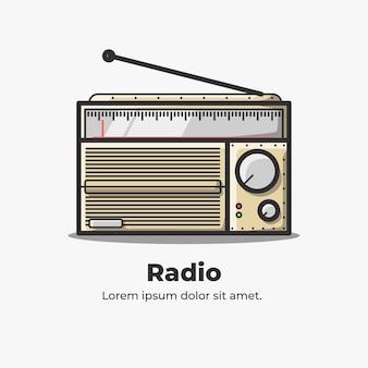 ラジオかわいいフラット漫画イラスト