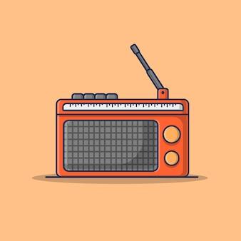 ラジオアイコンイラスト