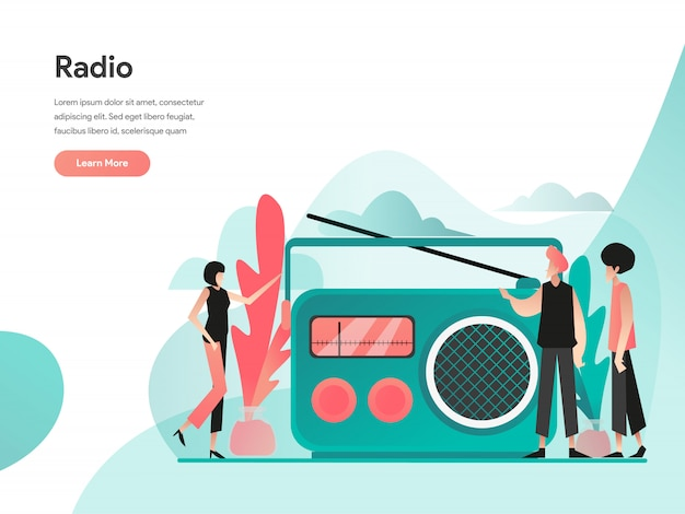 Radio illustration concept
