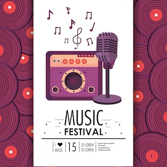 Radio and microphone equipment to music festival