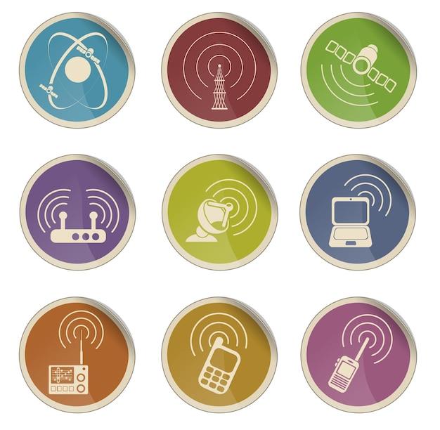 無線信号の単純なベクトルアイコン