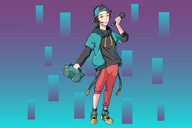 Дизайн персонажей радио уличного мальчика