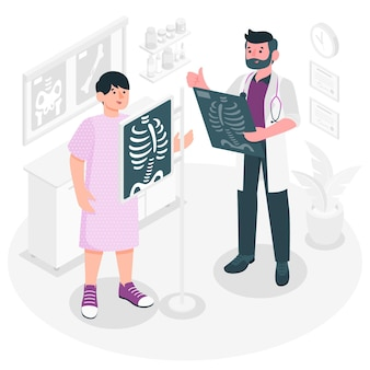 Иллюстрация концепции радиографии