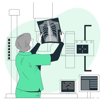 Illustrazione di concetto di radiografia