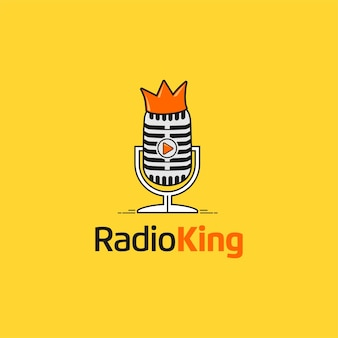 Radioking with microphone and crown