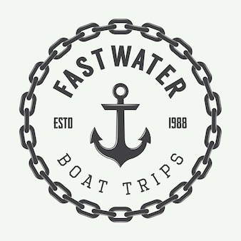 Rafting or boat rental logo