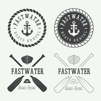 Rafting logo, labels
