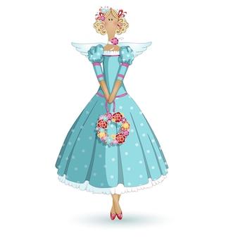 Rag doll garden fairy.