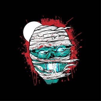 Ярость мумии иллюстрация для дизайна футболки