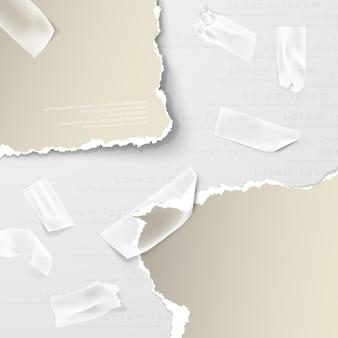ぼろぼろの紙の破れた穴