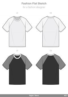 Raglan sleeve tee shirt