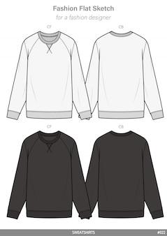 Raglan sweatshirts