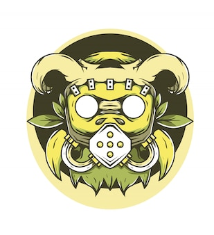 Raider маска рога векторная иллюстрация