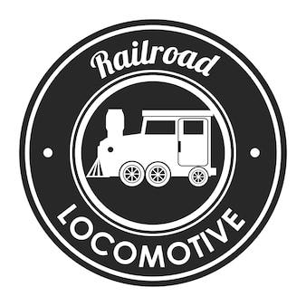 Railroad train isolated icon design