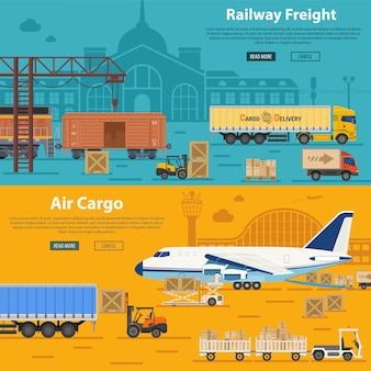 Railway freight and air cargo