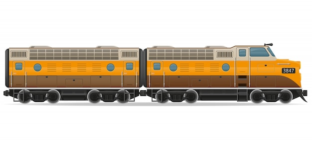 Railway locomotive train.