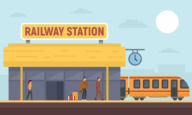 Railway station banner