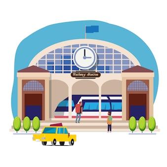Railway station or train station