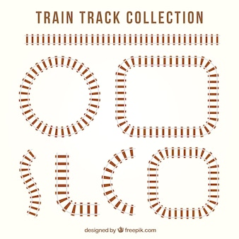 Railway tracks with different designs
