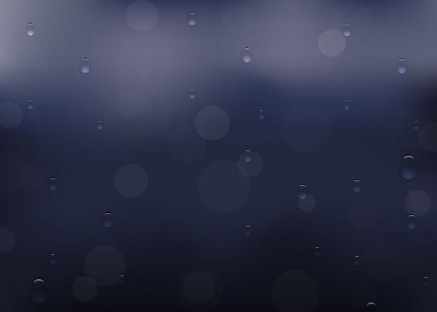Капля дождя на окне.