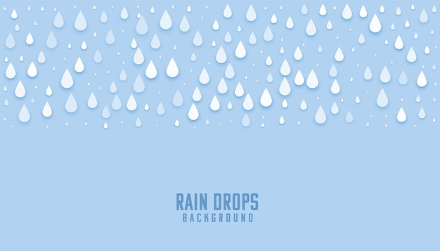 雨は青い濡れた背景を落とします