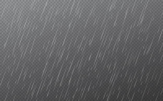 Капли дождя . падающие капли воды. осадки природы.