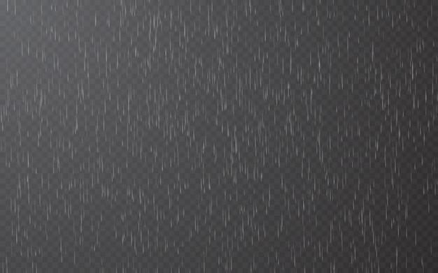 Капли дождя на прозрачном фоне