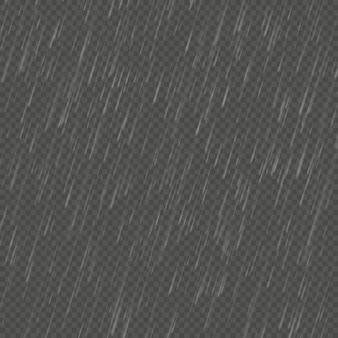 Rain  realistic anglewise effect. transparent nature rainfall template.